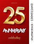 25 golden numbers and... | Shutterstock .eps vector #1304511643