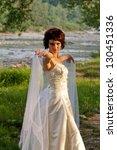 pretty girl in a wedding dress | Shutterstock . vector #130451336