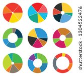 abstract set of pie chart 6... | Shutterstock .eps vector #1304522476