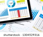 business report concept | Shutterstock . vector #1304529316