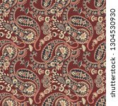 paisley seamless pattern.... | Shutterstock .eps vector #1304530930