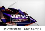 3d triangle geometric... | Shutterstock .eps vector #1304537446