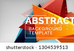 abstract color triangles... | Shutterstock .eps vector #1304539513