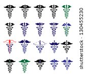 caduceus   medical icons  ... | Shutterstock .eps vector #130455230