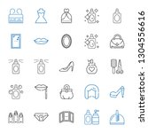 glamour icons set. collection... | Shutterstock .eps vector #1304556616