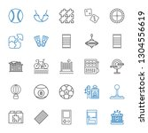 leisure icons set. collection... | Shutterstock .eps vector #1304556619