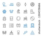 recreation icons set.... | Shutterstock .eps vector #1304558686