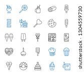 tasty icons set. collection of... | Shutterstock .eps vector #1304559730
