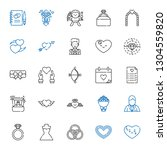 marriage icons set. collection... | Shutterstock .eps vector #1304559820