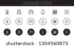 luggage icons set. collection... | Shutterstock .eps vector #1304560873