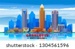 charlotte   north carolina  ... | Shutterstock .eps vector #1304561596