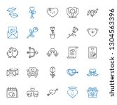 romance icons set. collection... | Shutterstock .eps vector #1304563396