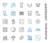 leisure icons set. collection... | Shutterstock .eps vector #1304563399
