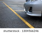 yellow line marking car parking ... | Shutterstock . vector #1304566246