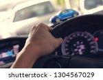 hand driver control steering... | Shutterstock . vector #1304567029