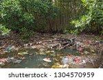 huge dump in tropical mangrove...   Shutterstock . vector #1304570959