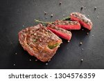 home made meat cooking. rare...   Shutterstock . vector #1304576359