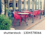 cafe terrace of good atmosphere | Shutterstock . vector #1304578066