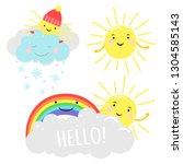 cute sunny vector illustration... | Shutterstock .eps vector #1304585143