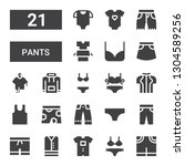 pants icon set. collection of... | Shutterstock .eps vector #1304589256
