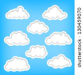 set of clouds as background... | Shutterstock . vector #130459070