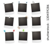 photo frames with pushpins... | Shutterstock . vector #130459286