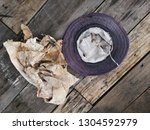 old hand made hats and dirty... | Shutterstock . vector #1304592979