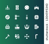 hardware icon set. collection... | Shutterstock .eps vector #1304595340