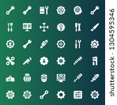 workshop icon set. collection... | Shutterstock .eps vector #1304595346