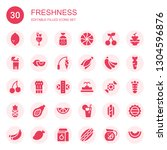 freshness icon set. collection... | Shutterstock .eps vector #1304596876