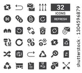 refresh icon set. collection of ... | Shutterstock .eps vector #1304596879