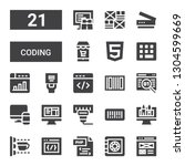 coding icon set. collection of... | Shutterstock .eps vector #1304599669