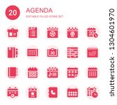 agenda icon set. collection of... | Shutterstock .eps vector #1304601970