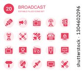broadcast icon set. collection... | Shutterstock .eps vector #1304602096