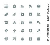 seed icon set. collection of 25 ... | Shutterstock .eps vector #1304602120