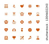 romance icon set. collection of ... | Shutterstock .eps vector #1304602243