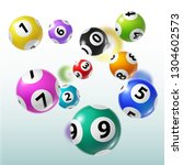 lottery balls 3d vector of... | Shutterstock .eps vector #1304602573