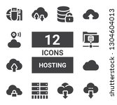 hosting icon set. collection of ... | Shutterstock .eps vector #1304604013