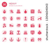 heavy icon set. collection of... | Shutterstock .eps vector #1304604043