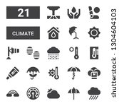 climate icon set. collection of ... | Shutterstock .eps vector #1304604103