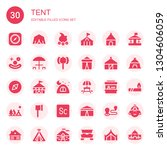 tent icon set. collection of 30 ... | Shutterstock .eps vector #1304606059