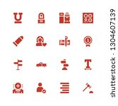 right icon set. collection of... | Shutterstock .eps vector #1304607139