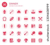 dinner icon set. collection of... | Shutterstock .eps vector #1304608999