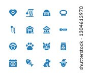 cat icon set. collection of 16... | Shutterstock .eps vector #1304613970