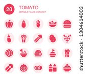 tomato icon set. collection of... | Shutterstock .eps vector #1304614003