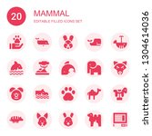 mammal icon set. collection of...   Shutterstock .eps vector #1304614036
