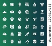 skull icon set. collection of... | Shutterstock .eps vector #1304614186