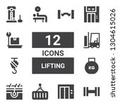 lifting icon set. collection of ... | Shutterstock .eps vector #1304615026