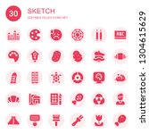 sketch icon set. collection of... | Shutterstock .eps vector #1304615629