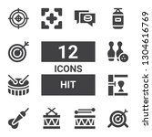 hit icon set. collection of 12...   Shutterstock .eps vector #1304616769